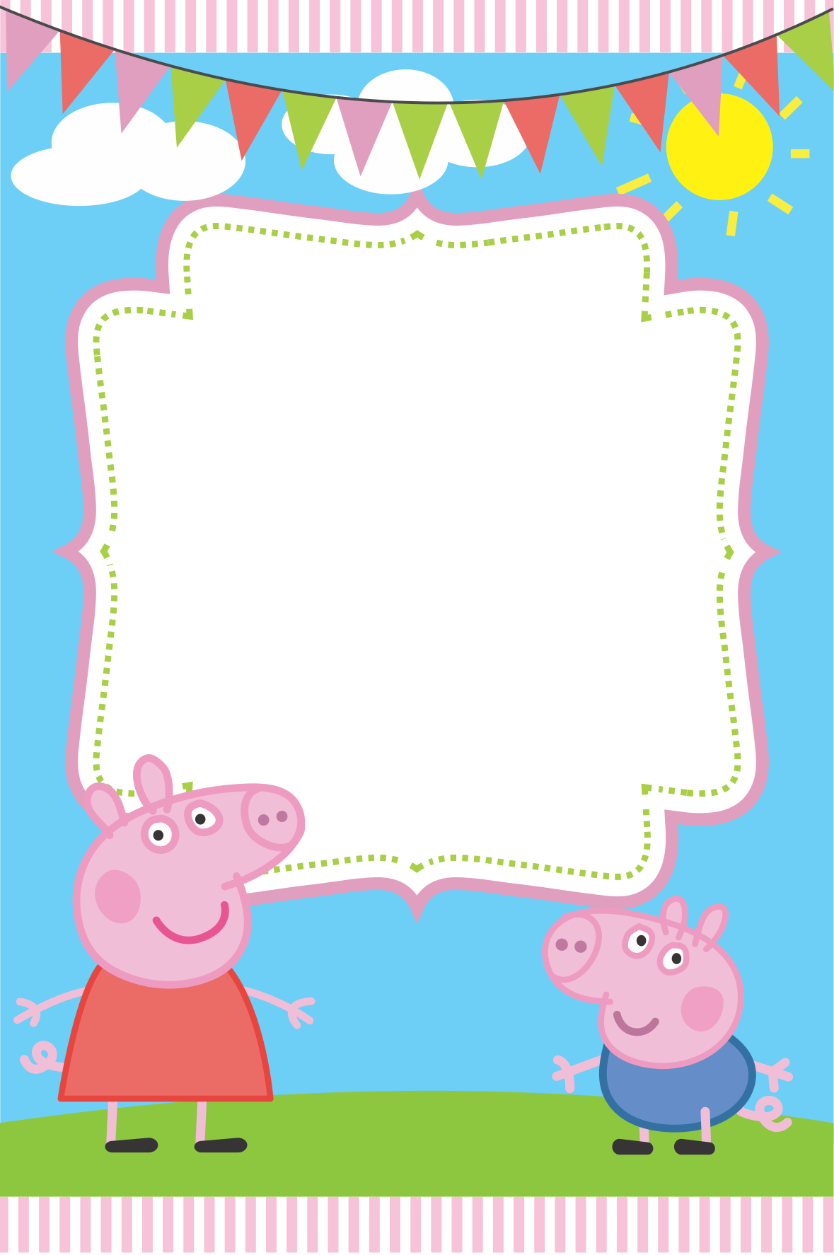 Blank Peppa Pig Invitation Peppa Pig Invitations Peppa Pig Birthday Invitations Pig Birthday Invitations