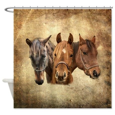 Horse Shower Curtain By Phodographer Cafepress Horse Shower Curtain Western Shower Curtain Horses