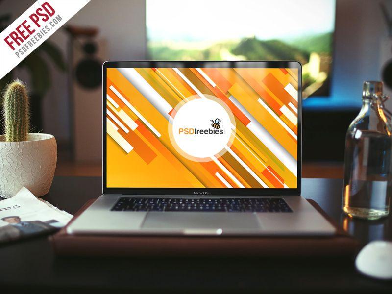 Realistic Macbook Pro Mockup Free Psd Mockup Design Mock Up Free