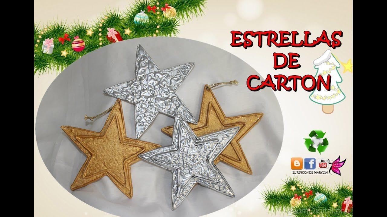 Como Hacer Estrellas De Carton Decorar El Arbol De Navidad Manualidades De Navidad Faciles Estrella De Navidad Manualidades Manualidades Faciles