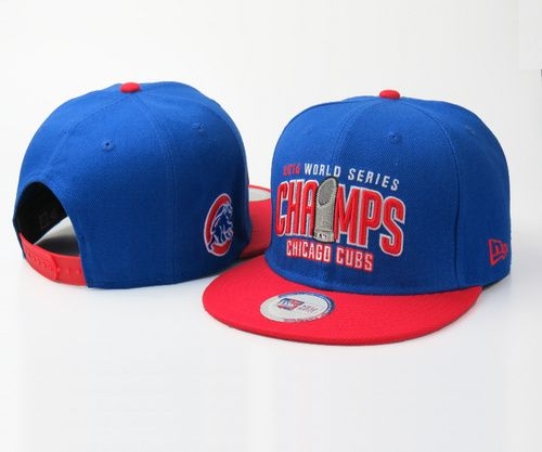 2016 Champions MLB Chicago Cubs World Series Snapbacks Blue Red e86f3417ea0