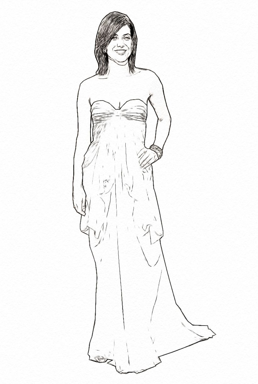 kate walsh celebrity coloring page art work by dan newburn www