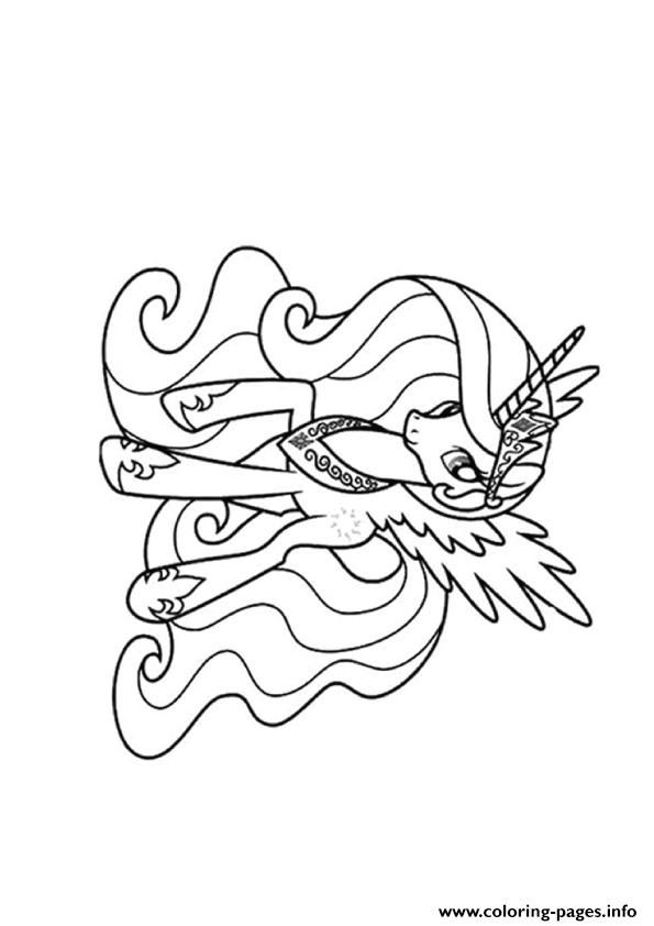 Print A Princess Celestia my little pony coloring pages   Addies 4th ...