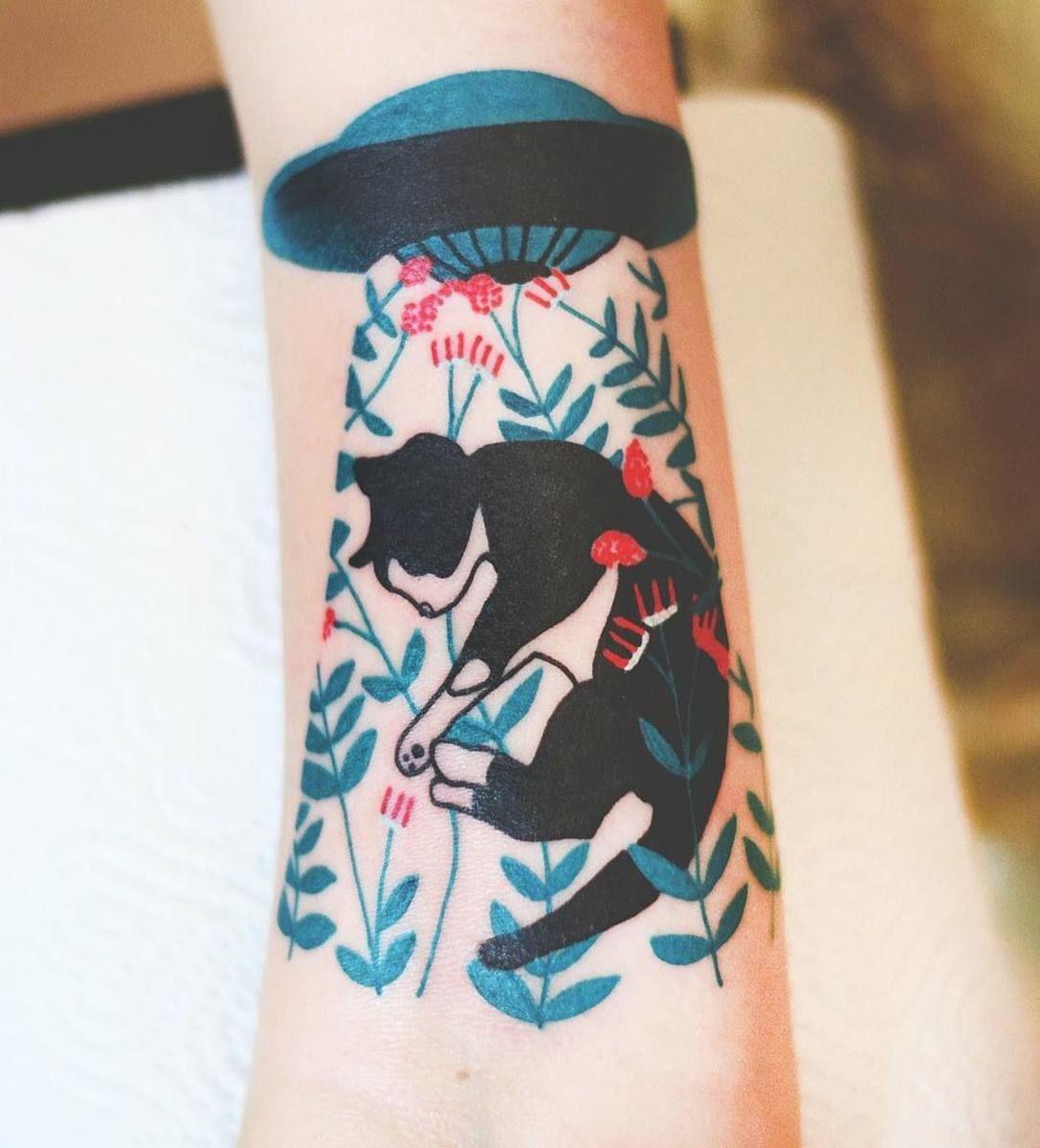 Polish Artist Creates Elegant Animal Tattoos Finished In Vibrant - Polish artist creates elegant animal tattoos finished in vibrant colours