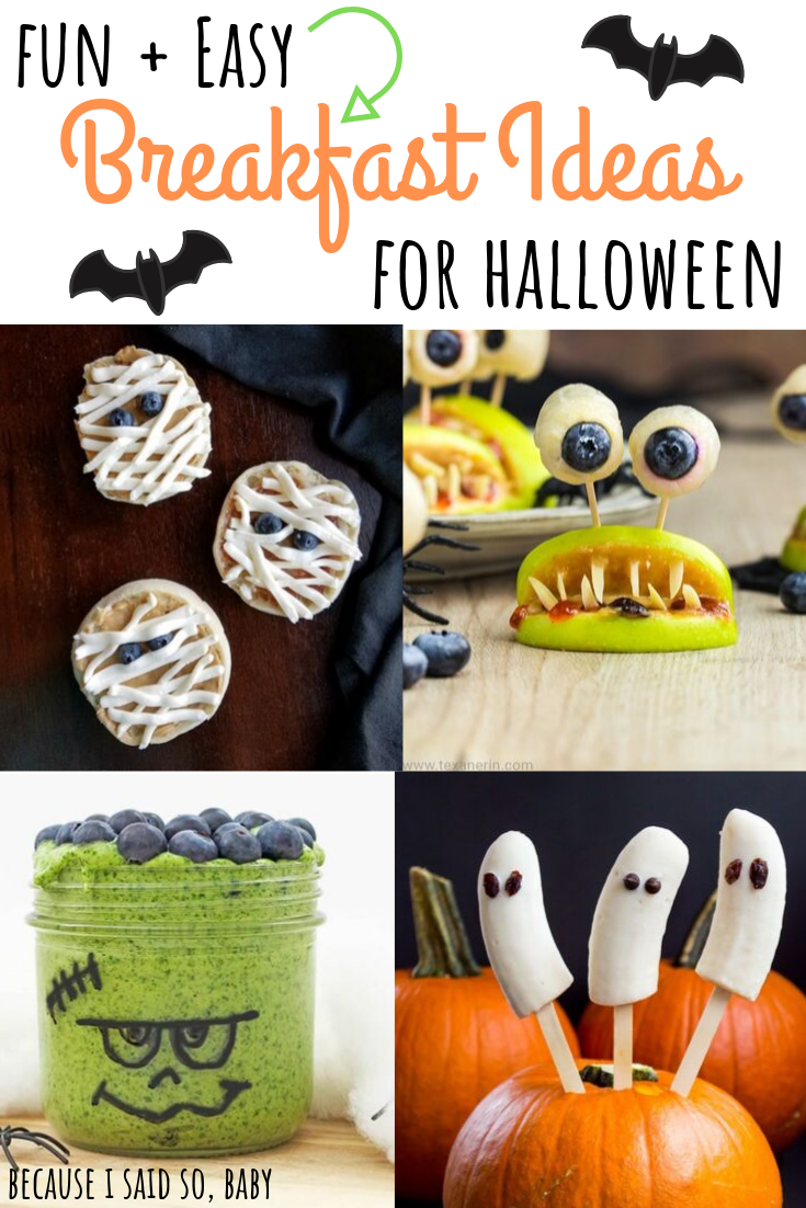 Halloween Breakfast Ideas for Kids #halloweenbreakfastforkids Fun, easy, and spooky Breakfast ideas for Halloween! Make one of these simple, healthy treats for your little goblin on Halloween morning. Made with all-natural ingredients, you'll feel good about starting their day right. #halloween #breakfast #easy #fun #healthy #toddler #kids #mom #howto #spooky #fall #ideas #halloweenbreakfastforkids