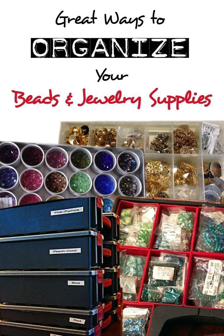✔ Jewelry Making Studio Organization