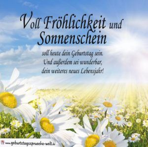 Spruch Zum Geburtstag Voll Frohlichkeit Und Sonnenschein Dessert