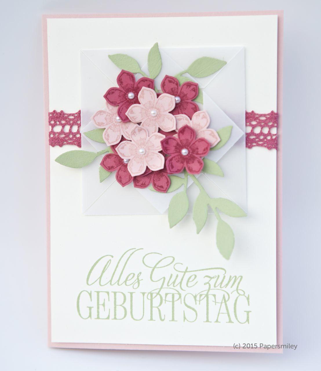 Blumige Geburtstagskarte Mit Produkten Von Stampin Up