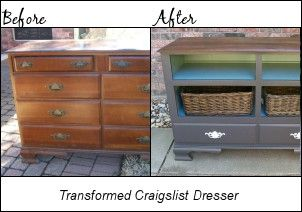 Dresser Turned Television Console - Addicted 2 Decorating® #furnitureredos