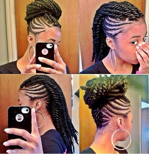 Braided Mohawk With Twist Hairstyles Braided mohawk with havana ...