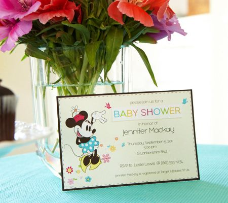 Minnie Mouse Printable Baby Shower Invitations