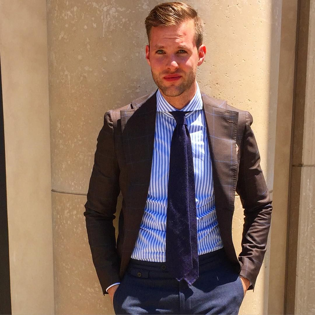 serraiocco:  Amazing combination again demonstrated by @curtisanewkirk wearing Francesco Serraiocco jacket and ninefold tie.