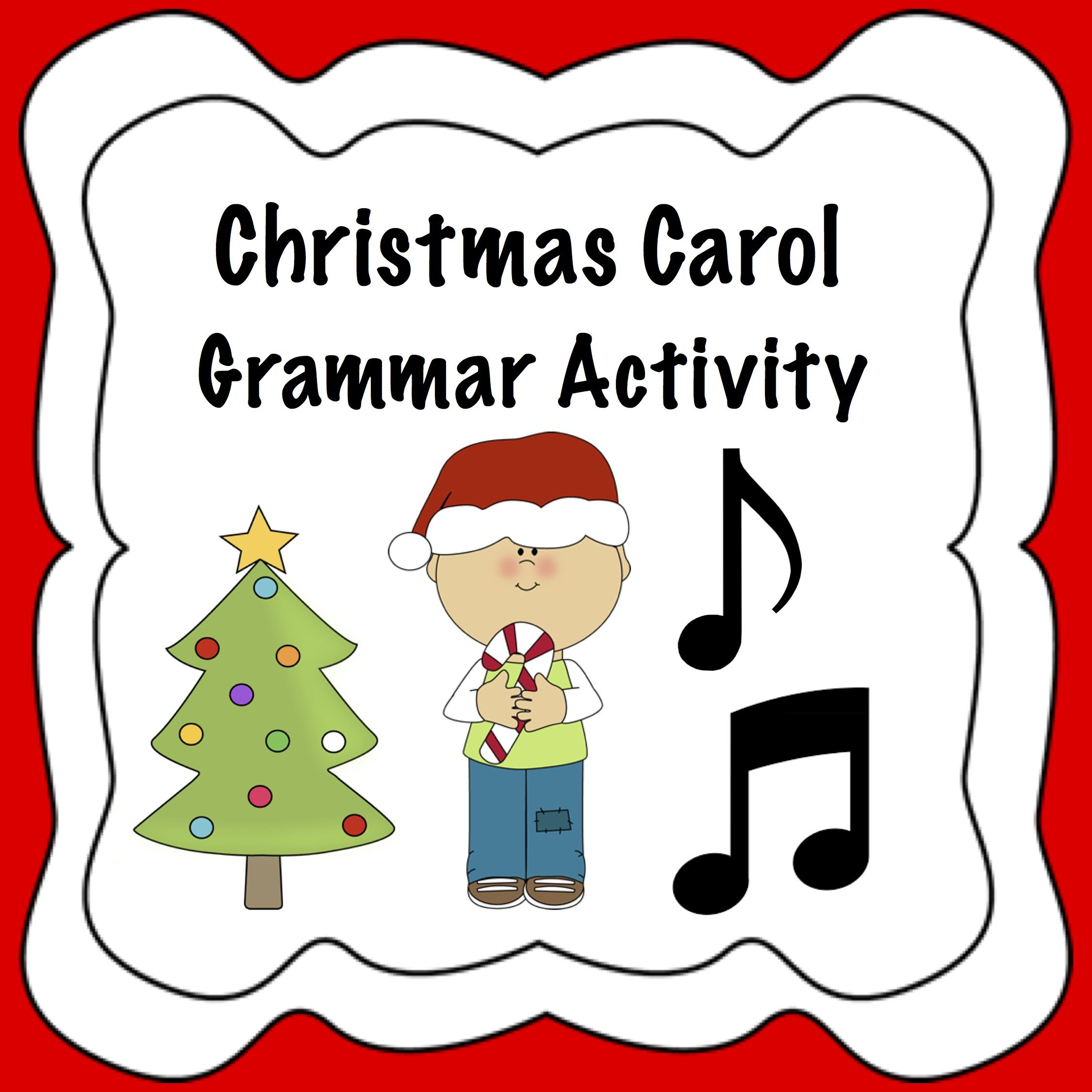 Christmas Grammar Activity Parts Of Speech