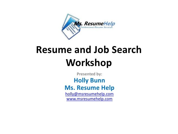 Resume Workshop excerpt from Ms Resume Help Career Resume - resume writing workshop