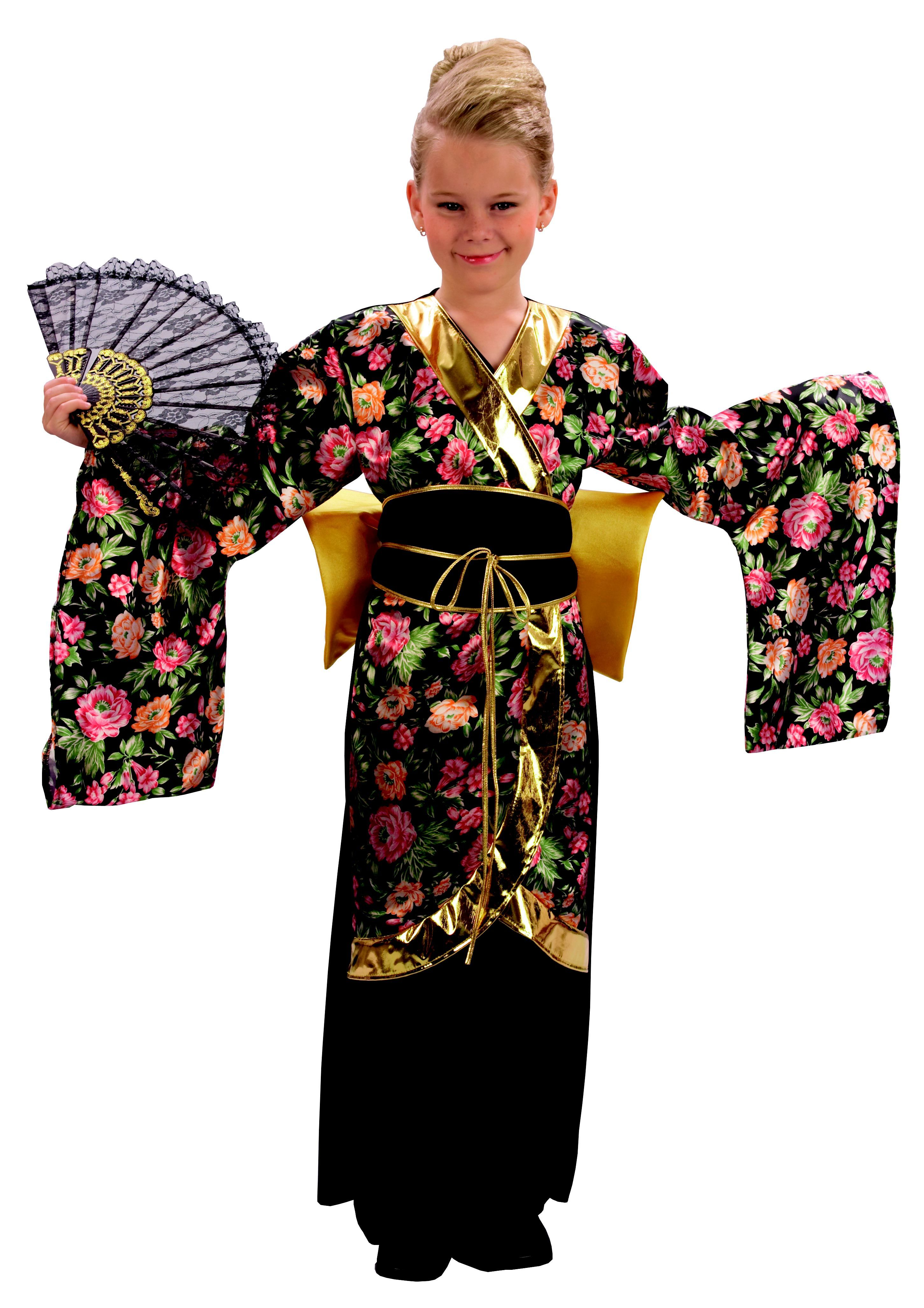 eadbbba72 Geisha Kimono Girls Fancy Dress Japanese National Dress Kids Costume ...