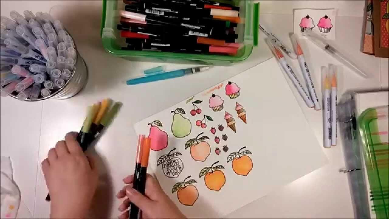 Watercolor Look Flowers Using Tombow Dual Brush Pens Pen Art