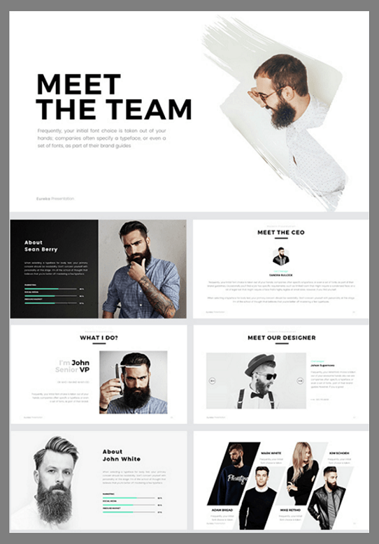 clean PowerPoint template - creative PowerPoint template