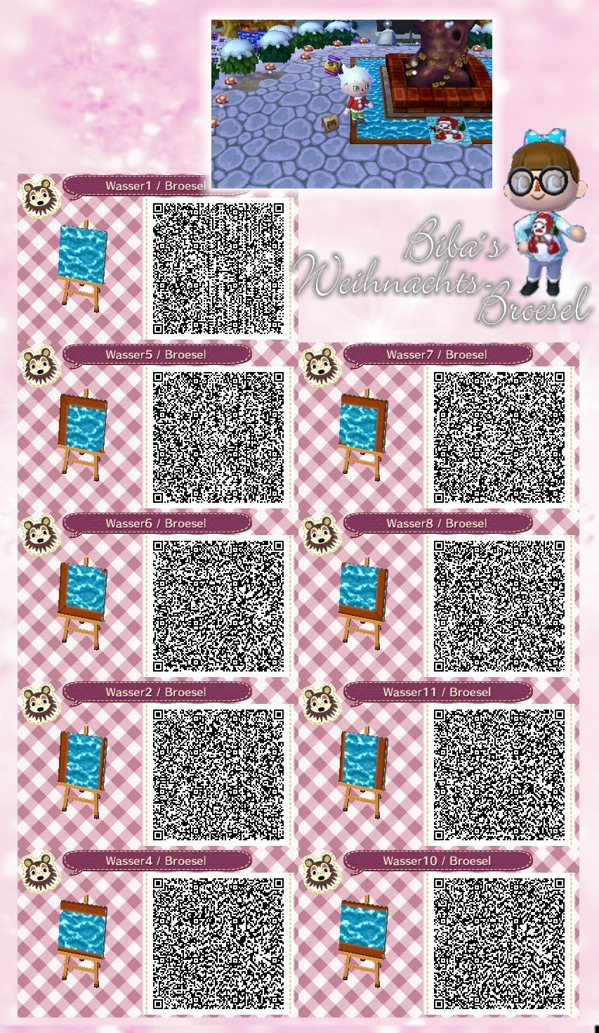 Wasser Water Path Weg Qr Acnl Broesel Animal Crossing