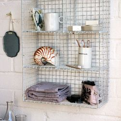 Wall Mounted Wire Storage Shelving Unit White Dimensions 66cm X 46cm X 18cm Depth The Height Of E Wall Shelves Design Kitchen Wall Shelves Kitchen Stand