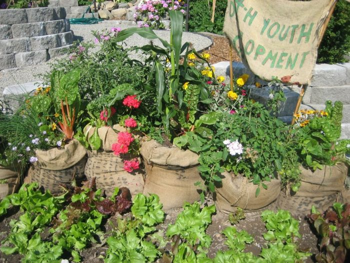 Alte Sisalsäcke Upcycling Gartenideen Für Wenig Geld