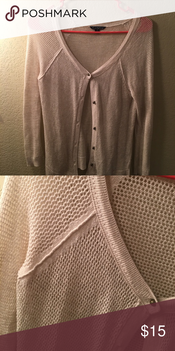 Super Comfy Grey American Eagle Cardigan Size Small