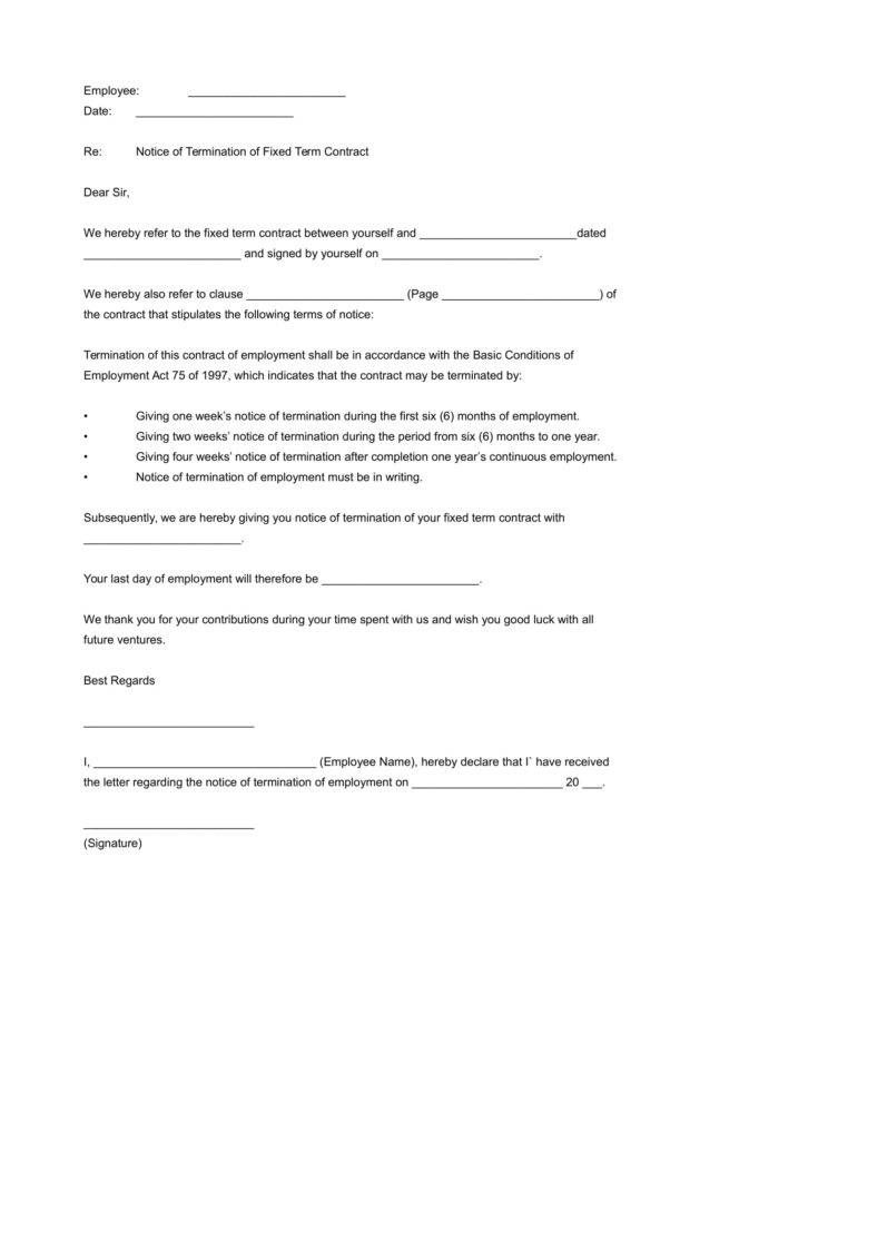 Business Termination Letters Free Word Pdf Excel Format Sample