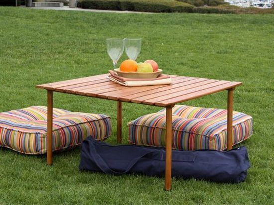 Portable Side Table Picnic Beach Camping Lawn Park Outdoor Dining Folding  NEW