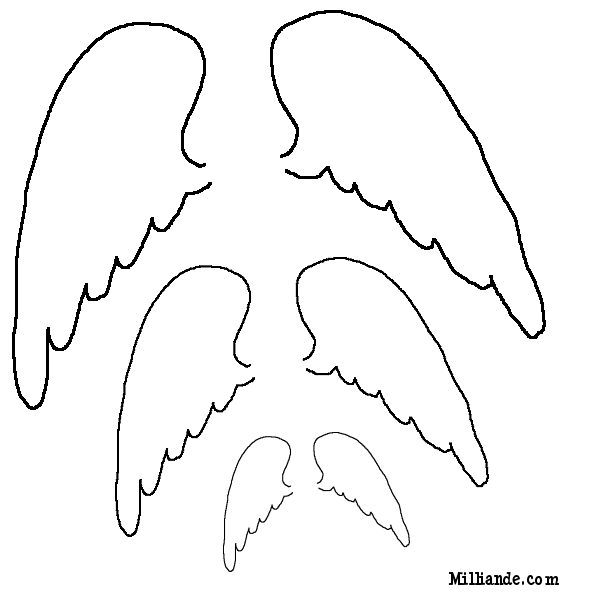 graphic about Angel Wing Stencil Printable identified as Free of charge Habits in the direction of Print Paper Doll Printables Angel Wings