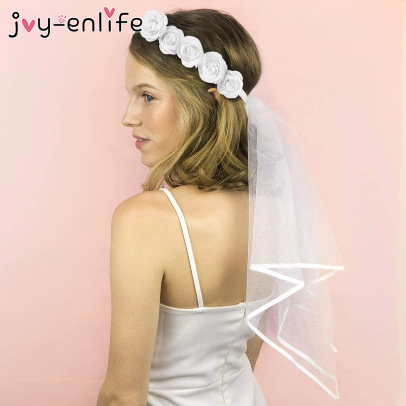 Bachelorette Veil Bride to be Decoration Set Cascade Bridal Wedding Veil with