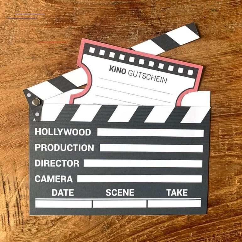 Kinogutschein Als Filmklappe Basteln Mini Presents Blog 10