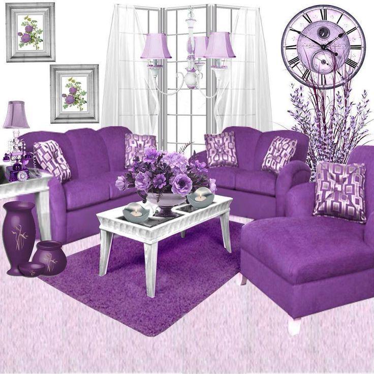 Purple Sofa, Purple Furniture, Purple Decor, Living room, Decor ...
