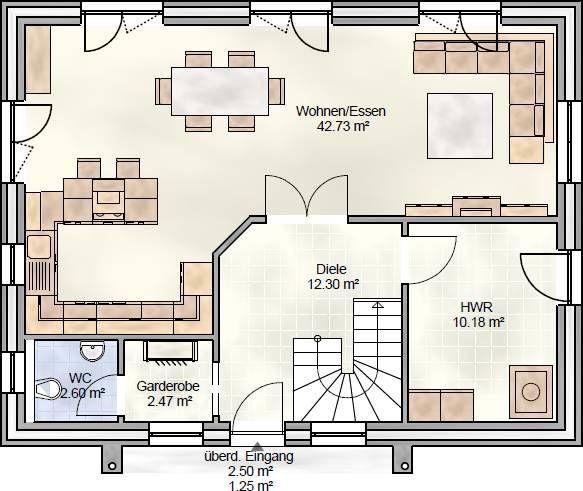 Erdgeschoss grundriss google suche house pinterest for Perfekter grundriss einfamilienhaus