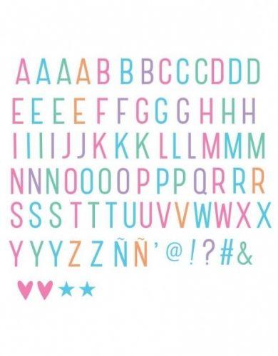 Superkult symbolsett fra A Little Lovely Company som du kan bruke sammen med Letterbox bokstavsettet.Symbolsett med 85 ektsra symboler og tall til Lightbox i A4 og A5 størrelse. Den har kule symboler som batman, vimpler, dollartegn og panda, bare for å nevne noen :-)