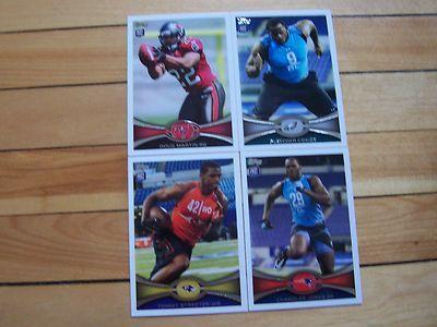 2012 Topps Football RC Lot Rookie Cards DOUG MARTIN FLETCHER COX CHANDLER JONES