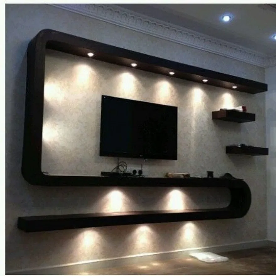 50 Best Tv Wall Living Room Ideas Decor On A Budget 2020 17 In 2020 Tv Unit Decor Modern Tv Wall Units Tv Unit Furniture Design