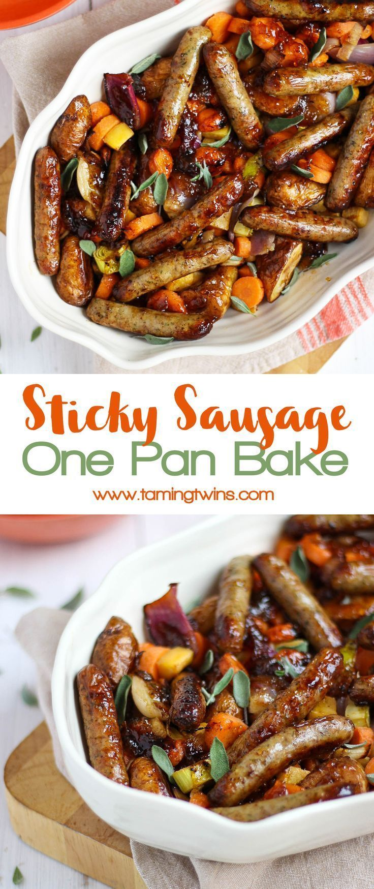 Marmalade Sticky Sausages One Pan Traybake images