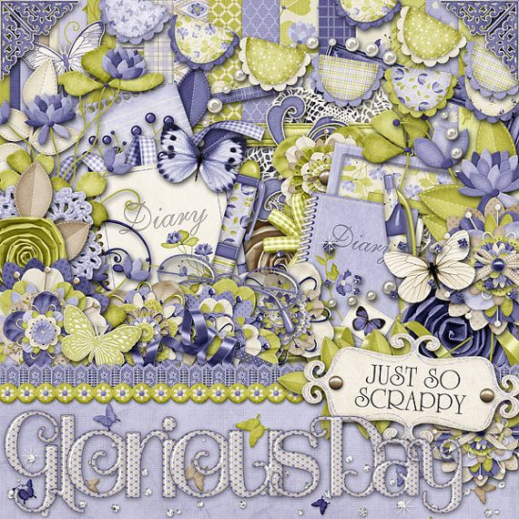 Glorious Day Digital Scrapbook Kit  Digital by JssScrapBoutique, $4.99