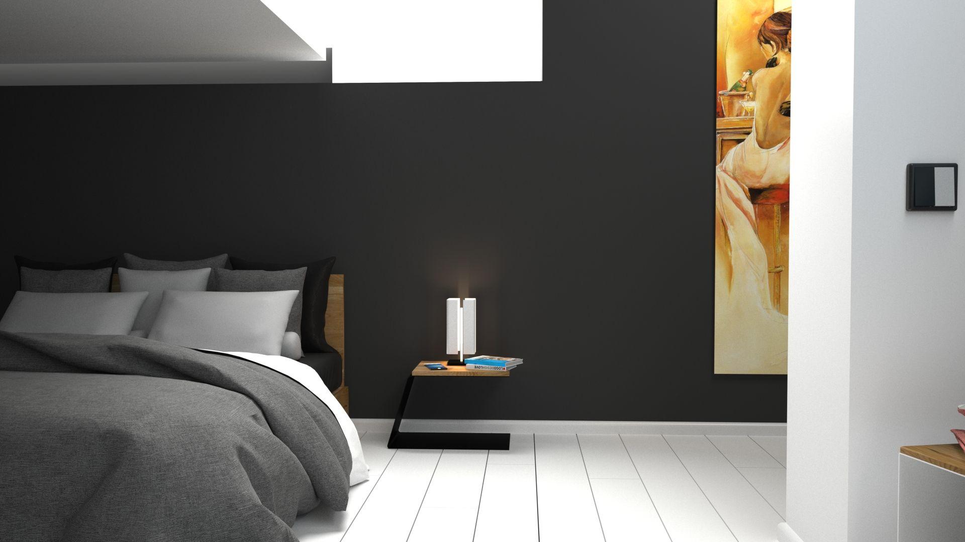 Nachttisch Weiß Metall ~ Nachttisch weiß metall holz eiche design schlafzimmer wohnzimmer