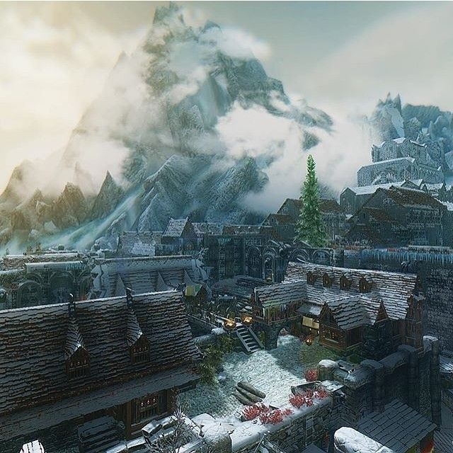 Sunrise Over Windhelm By @skyrimcam Love The Original Spot