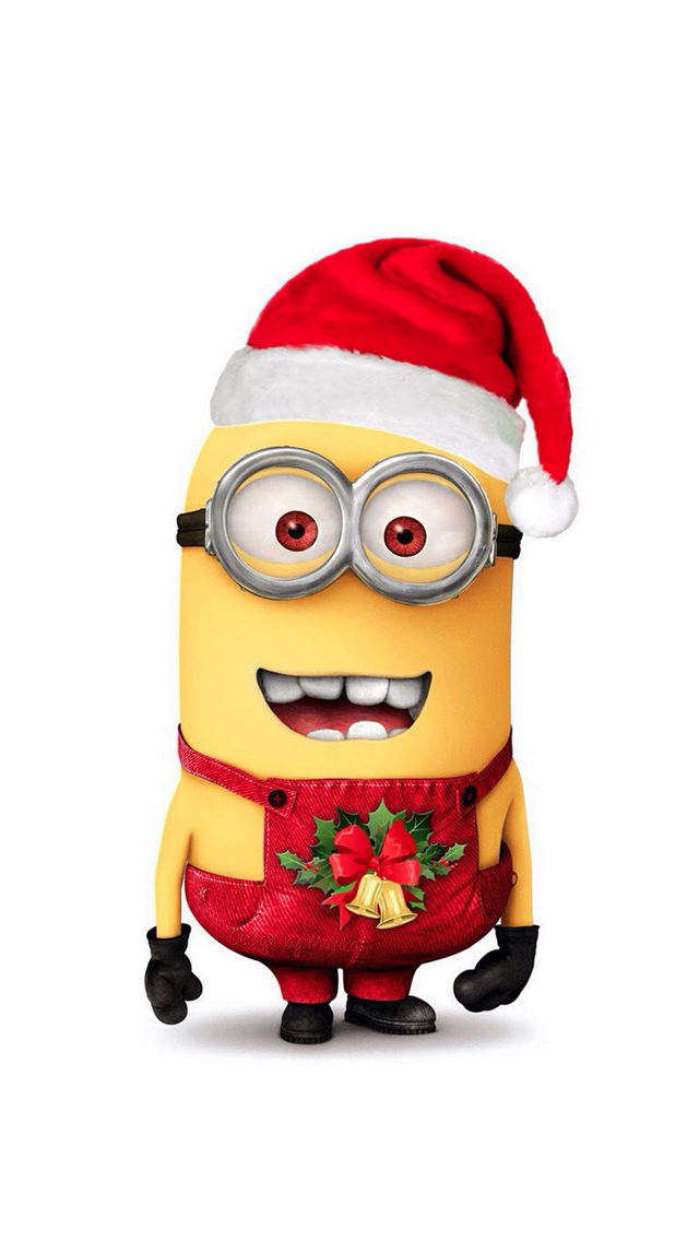 tap image for more christmas wallpapers minion christmas despicable me iphone wallpapers mobile9 - Minion Christmas Wallpaper