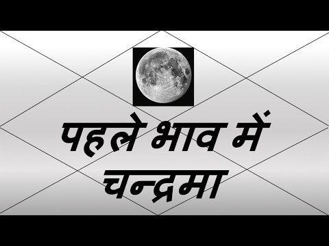 पहले भाव में चन्द्रमा (Moon in 1st House) | Vedic