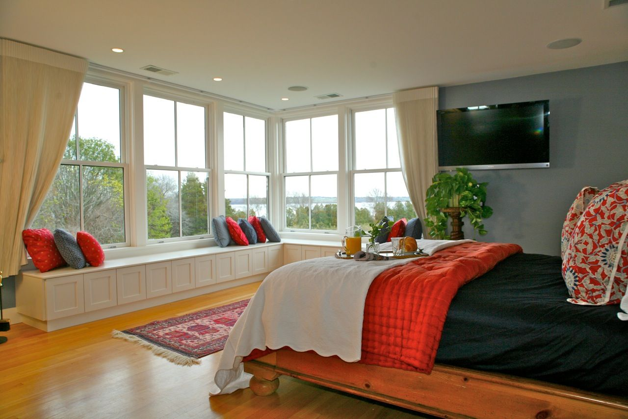 Homes With Big Windows The Master Bedroom Suite Features