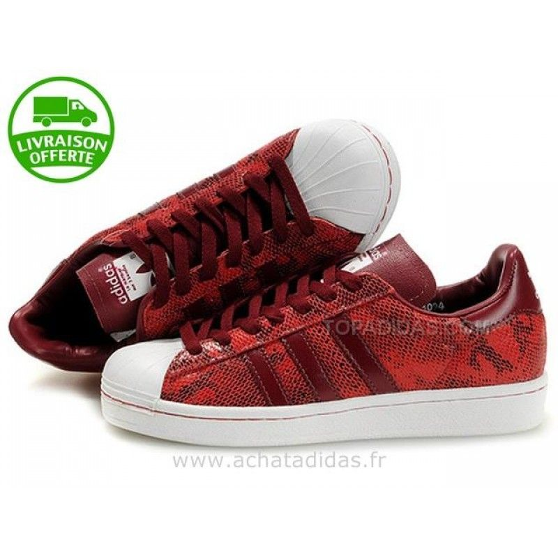 sneakers femme adidas rouge