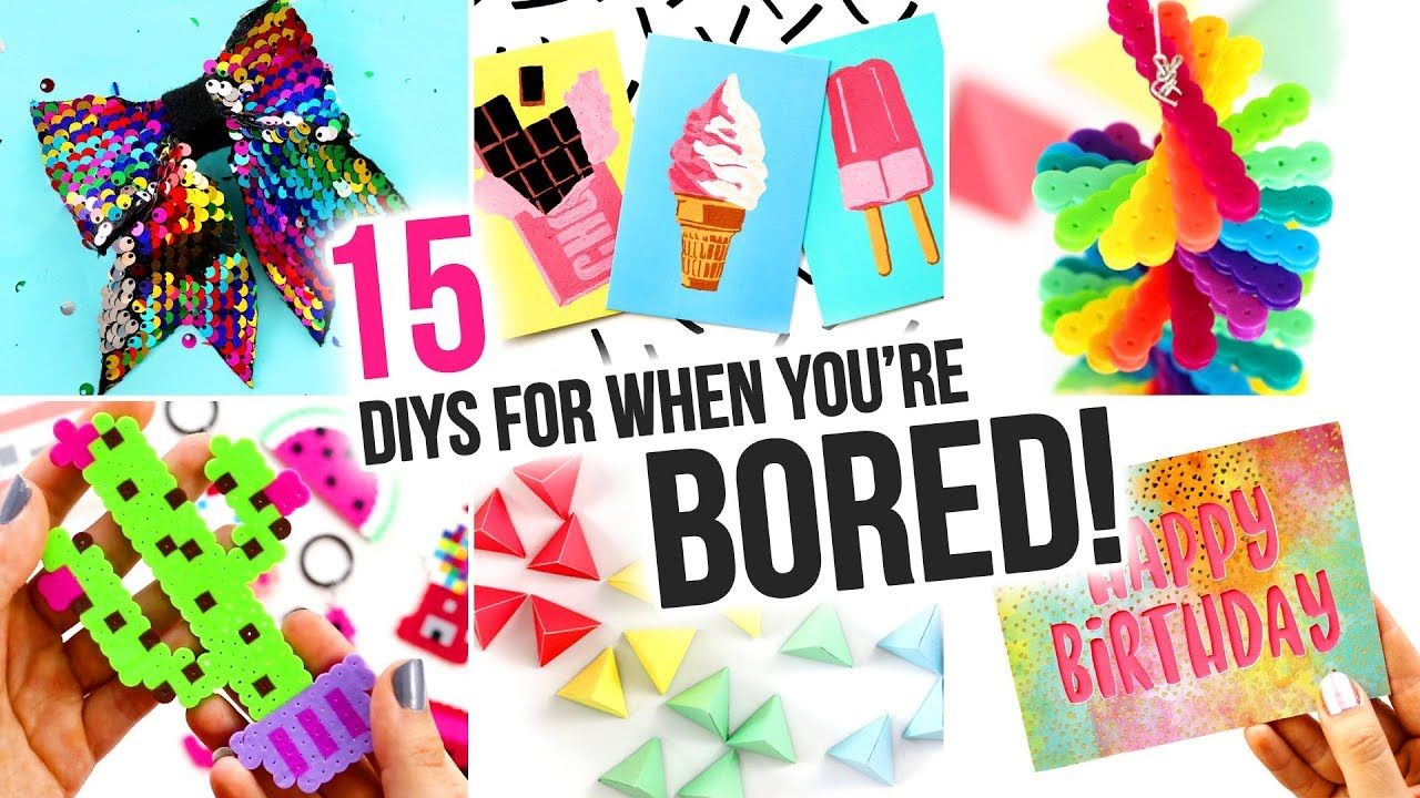 50+ Cool crafts to do when bored information