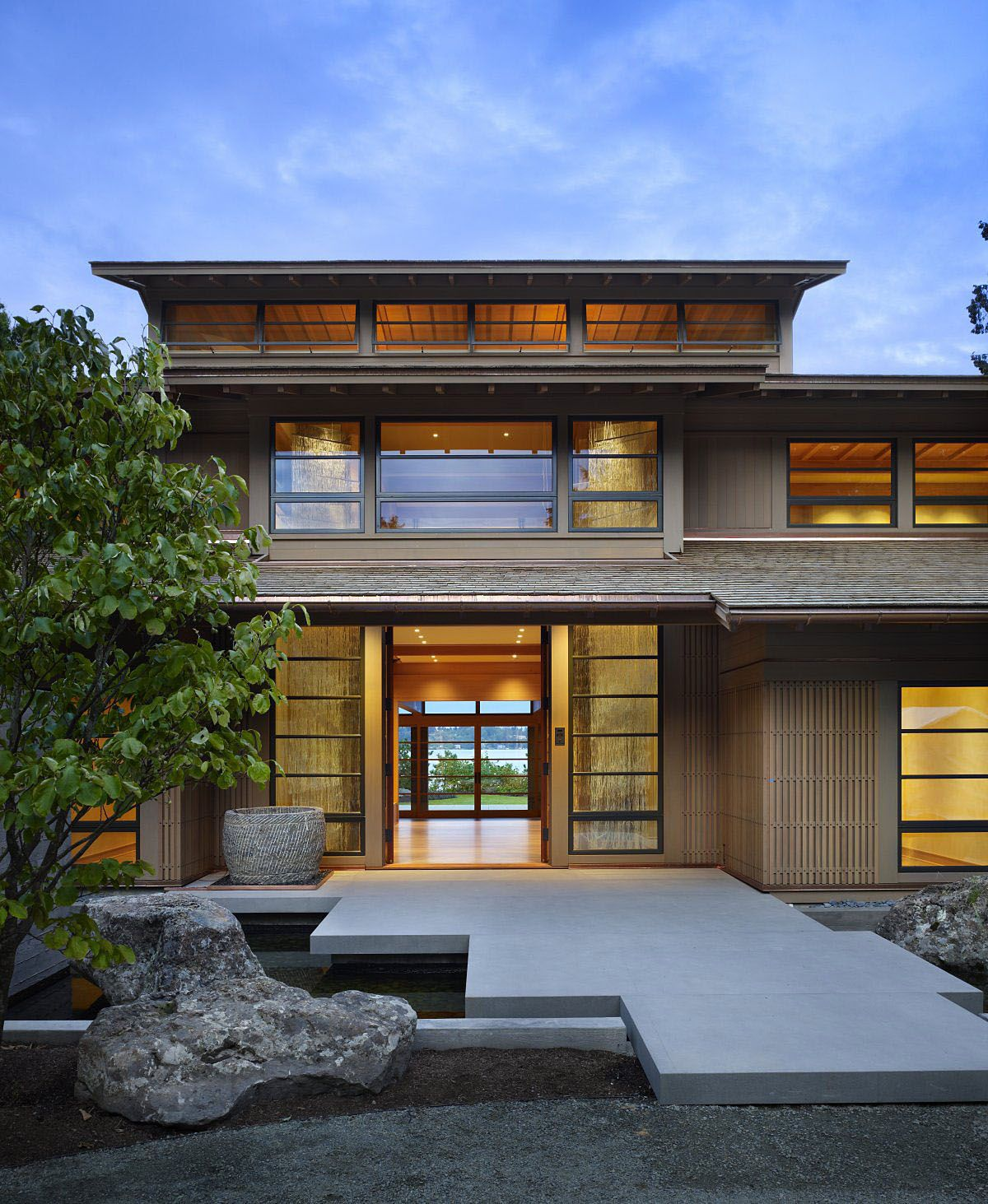 Contemporary House In Seattle With Japanese Influence Japanese