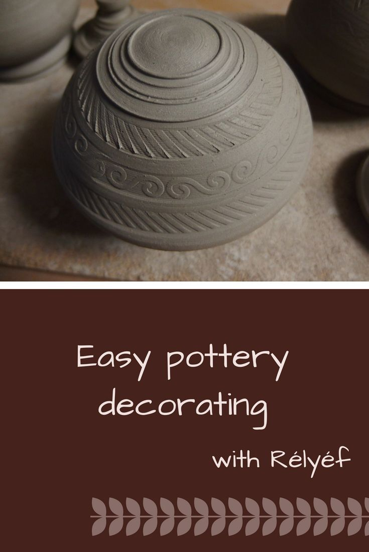 Poterry idea of decorating texture made by Rélyéf poterry tools - easy use for kids and beginners #ceramics #potterytools #relyefcz #DIY