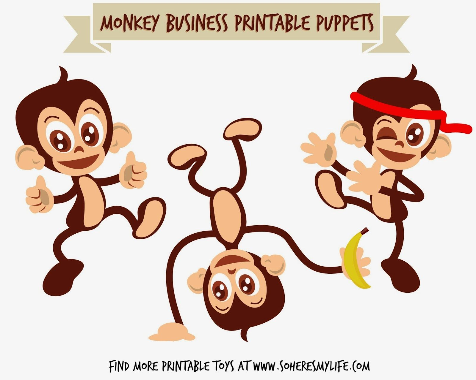 Free Printable Monkey Puppets