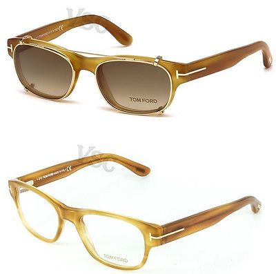 7e3880c2b765 TOM FORD TF5276 EYEGLASSES FT 5276 SUN GLASS WITH MAGNETIC CLIP-ON YELLOW  041