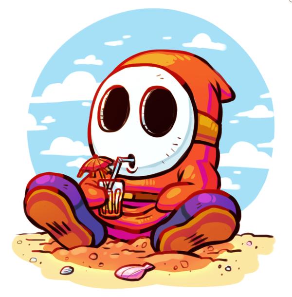 Summer Shyguy By Sir Grimmington Deviantart Com On Deviantart Super Mario Art Mario Art Cute Pokemon Wallpaper