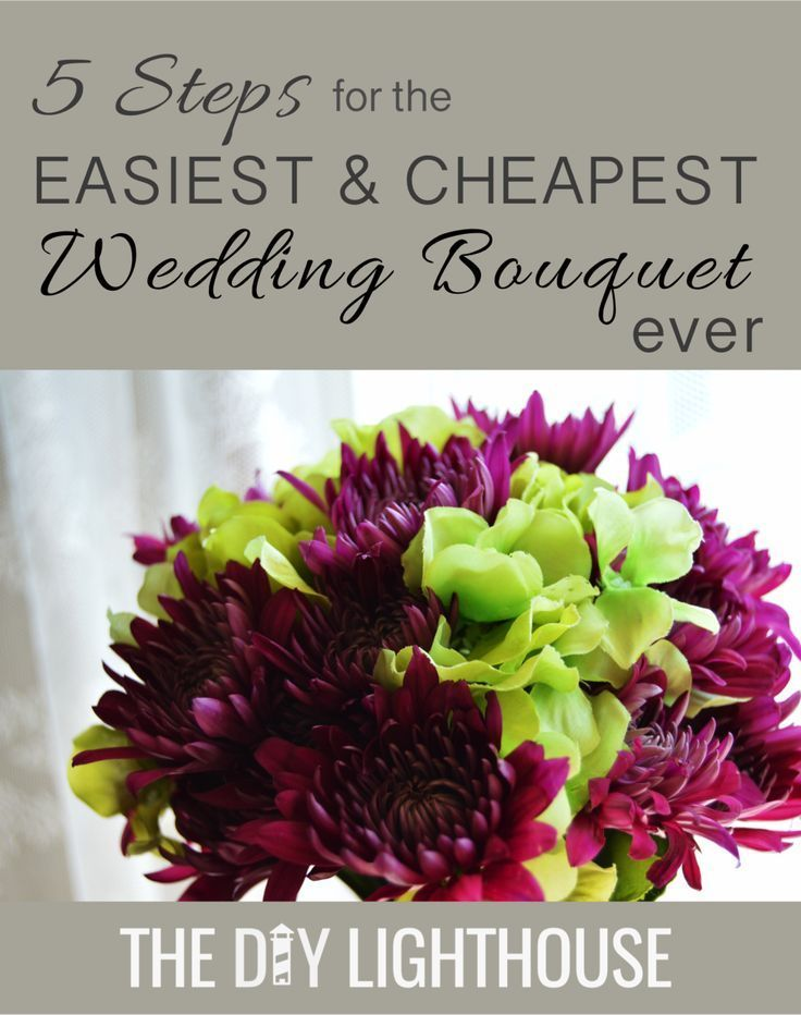 How to Make an Easy and Cheap DIY Wedding Bouquet #fantasticweddingbouquets